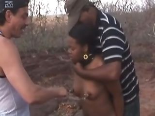 African, Amateur, Black, Interracial, Mmf, Nipples, Outdoor, Pussy, Rough, Slut,