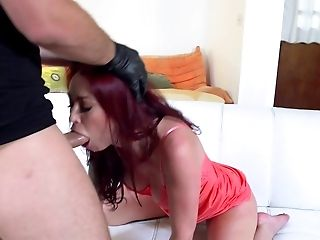 Analsex, Eier Lecken, Blowjob, Couch, Cuckold, Sperma In Den Mund, Spermaschlucken, Cumshot, Rothaarige, Hardcore,