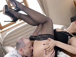 Amazing, Babe, Beauty, Big Tits, Blowjob, Brunette, Cumshot, Desk, Facial, Glasses,