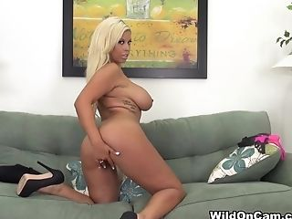 Big Tits, Blonde, Bridgette B, Exotic, Fake Tits, Masturbation, Pornstar, Solo,