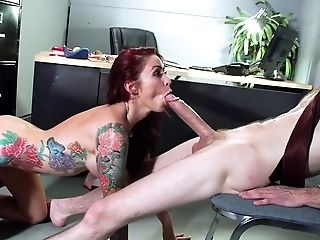 Amazing, Babe, Big Tits, Blowjob, Deepthroat, Desk, Hardcore, HD, High Heels, Monique Alexander,