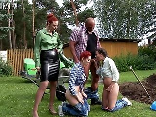 Blowjob, Bold, Clothed Sex, European, Fetish, Foursome, Glamour, Group Sex, Hardcore, Jeans,