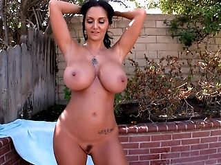 Ava Addams, Bedroom, Big Tits, Brunette, Huge Tits, Legs, MILF, Oiled, Pornstar, Posing,