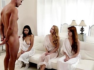Babe, Foursome, From Behind, Gangbang, Group Sex, Natural Tits, Naughty, Religious, Riding, White,