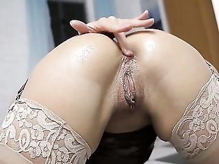 Anal Beads, Anal Sex, Ass, Ass Fingering, Ass Fucking, Ass To Mouth, Babe, Dildo, HD, Julie Night,