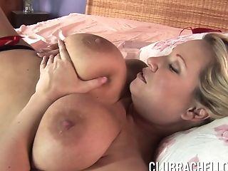 Big Tits, Blonde, Bra, Close Up, Curvy, Extreme, Fingering, Masturbation, MILF, Model,