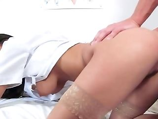 Ball Licking, Big Tits, Blowjob, Brunette, Cowgirl, Cum In Mouth, Cumshot, Doggystyle, Facial, Hardcore,