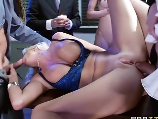 Anal Sex, Big Tits, Blonde, Courtney Taylor, Double Penetration, HD, Office,