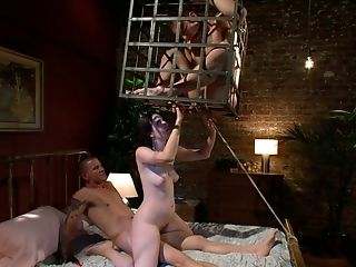Brunette, Cuckold, Femdom, Group Sex, Hardcore, HD, Kimberly Kane, Public, Threesome,