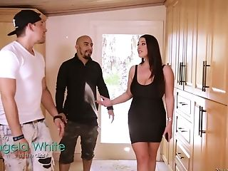 Angela White, Ass, Australian, Big Tits, Curvy, Cute, Kissing, Lesbian, Licking, Massage,
