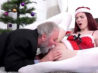 Blowjob, Cunnilingus, Hardcore, Masturbation, Old, Old And Young, Pussy, Redhead, Santa, Teen,
