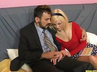 Big Cock, Blonde, Blowjob, Facial, Handjob, HD, Lacey Leveah, Teen,