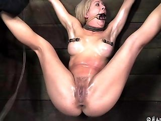 BDSM, Beauty, Blonde, Bondage, Fetish, Oiled, Submissive, Torture,