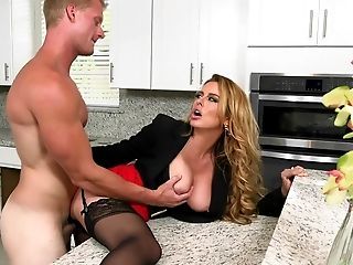 Big Tits, Blonde, Boss, Clothed Sex, From Behind, Hardcore, MILF, Pornstar, White,