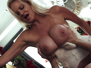 Big Tits, Blonde, Blowjob, Couple, Cowgirl, Cute, Hardcore, Kelly Madison, MILF, Missionary,