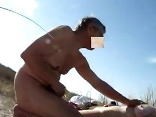 Amateur, Beach, Couple, Mature, Nude, Old, Outdoor,