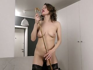 Babe, Brunette, Dildo, Hairy, HD, Jerking, Lingerie, Mature, Panties, Pussy,