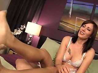 Big Tits, Brunette, Couple, Handjob, POV, Zoey Holloway,