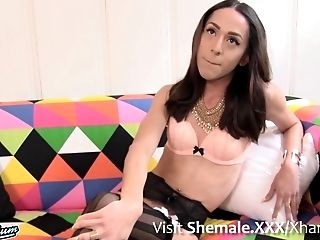 Big Cock, Boobless, HD, Lingerie, Shemale, Solo, Stockings, Yummy,