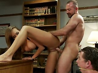 BDSM, Cuckold, Desk, Domination, Flexible, From Behind, Housewife, Husband, Librarian, MILF,
