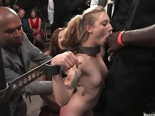 Amateur, BDSM, Bella Rossi, Big Black Cock, First Timer, Group Sex, Rough,