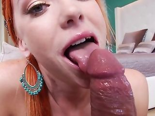 Blowjob, Dani Jensen, Dick, HD, POV, Redhead, Spreading,