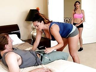 Alison Tyler, American, Bedroom, Big Tits, Blowjob, Brunette, Cheating, FFM, Group Sex, Heather Vahn,