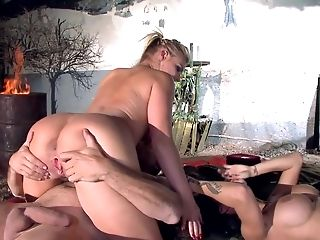 Ass, Big Tits, Blonde, Blowjob, Brunette, Extreme, Fake Tits, Foursome, Group Sex, Hardcore,